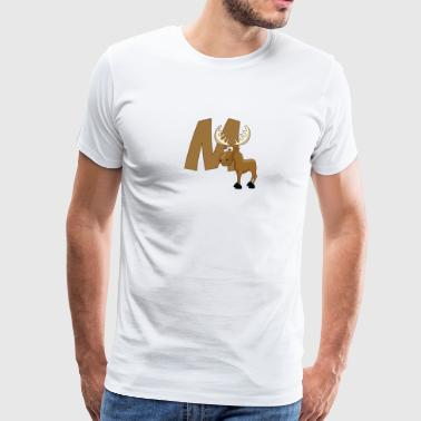 M Is For Moose - Men's Premium T-Shirt