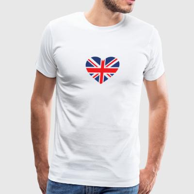 British Flag Love Heart Patriotic Pride Symbol - Men's Premium T-Shirt