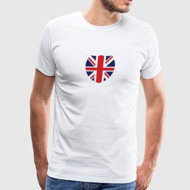 British Shield Love Patriotic Pride Symbol - Men's Premium T-Shirt