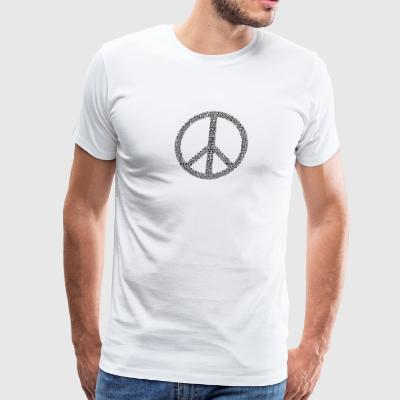 peace logo in black - Men's Premium T-Shirt