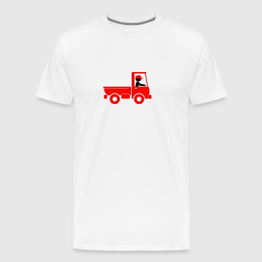 A Pickup Truck Drives To A Warehouse - Men's Premium T-Shirt