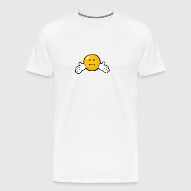 SmileyWorld Indifferent Smiley - Men's Premium T-Shirt