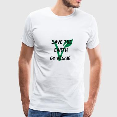 Save the earth go vegetarian - Men's Premium T-Shirt