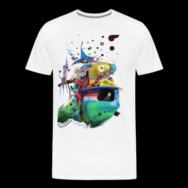 Abstract Duel Reason - Men's Premium T-Shirt