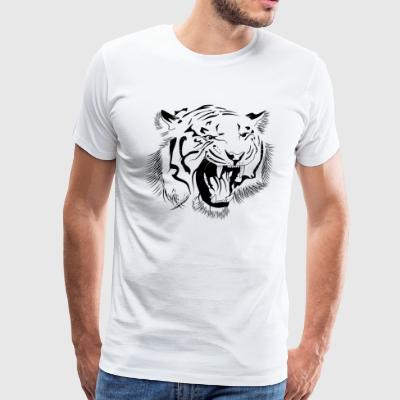 Roaring tiger - Men's Premium T-Shirt