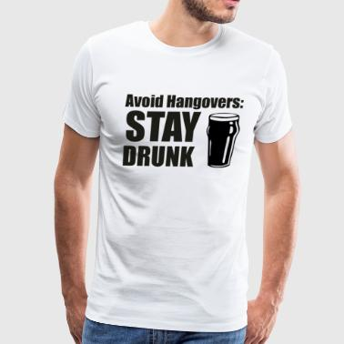 avoid hangover - Men's Premium T-Shirt