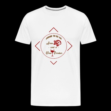 Red wine white wine gift - Men's Premium T-Shirt