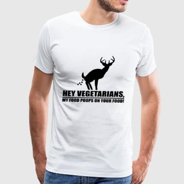 Vegetarians hunting deer gift - Men's Premium T-Shirt