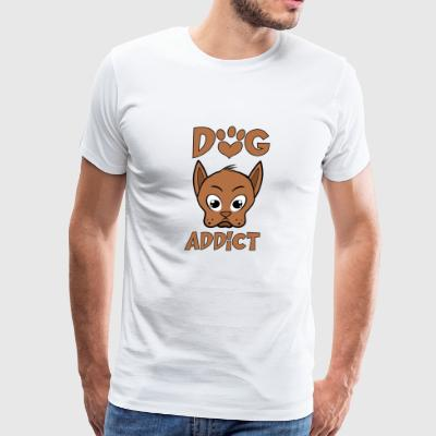 Dog addict - Men's Premium T-Shirt