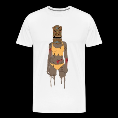 Tiki warrior - Men's Premium T-Shirt