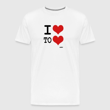 i love to love by wam - Men's Premium T-Shirt
