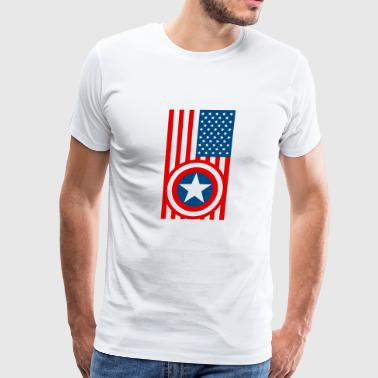 Shield With USA Flag - Men's Premium T-Shirt
