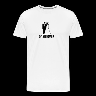 Game Over Bride Groom - Men's Premium T-Shirt