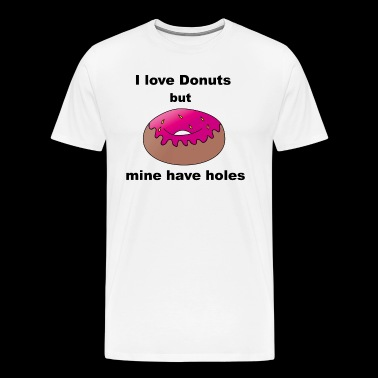 I love Donuts funny saying gift - Men's Premium T-Shirt