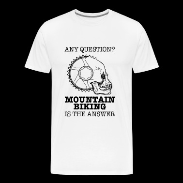 Mountain Bike Skull Gift - Men's Premium T-Shirt