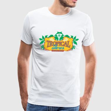 tropical shores - Men's Premium T-Shirt