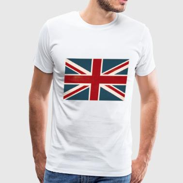 VINTAGE UNION JACK BRITISH FLAG - Men's Premium T-Shirt