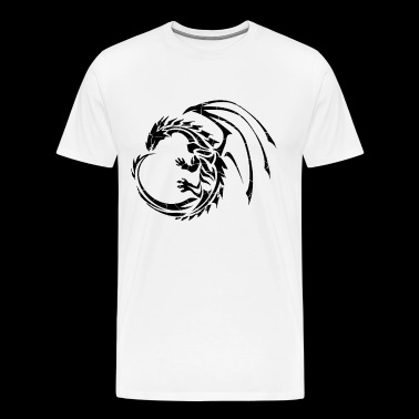 Sleek Dragon Shadow - Men's Premium T-Shirt