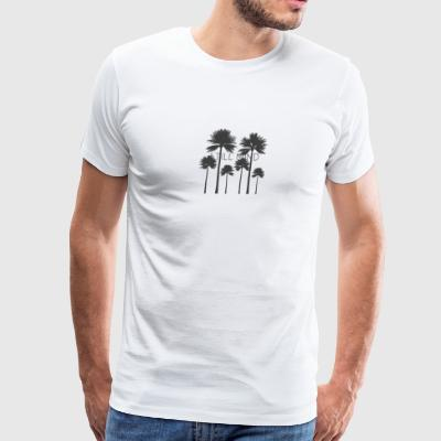 Still mind amongst Palm trees - Men's Premium T-Shirt