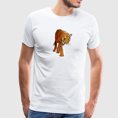 bengal tiger cat head sabre toothed12 - Men's Premium T-Shirt