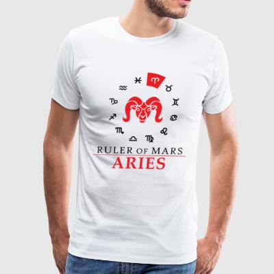 Aries- Ruler of Mars - Men's Premium T-Shirt