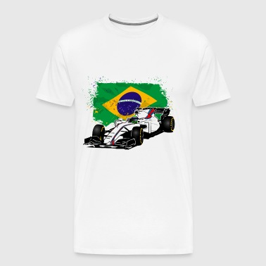 Formula One - Formula 1 - Brazil Flag - Men's Premium T-Shirt