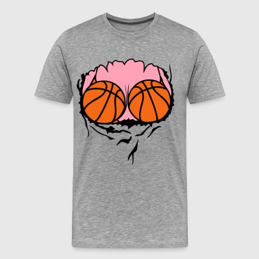 breasts swimsuit basketball ball - Men's Premium T-Shirt