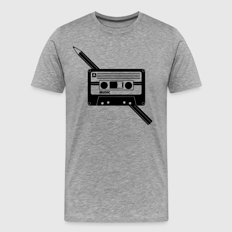 Cassette Audio Tape Pencil Relationship - Men's Premium T-Shirt