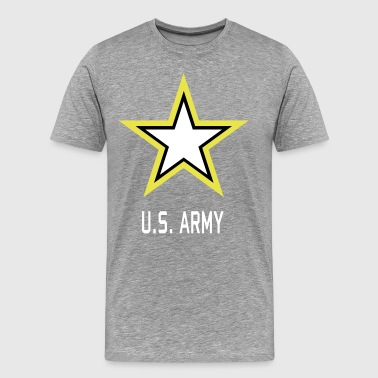 Army Star U.S. military Logo in 3 Colors - Men's Premium T-Shirt