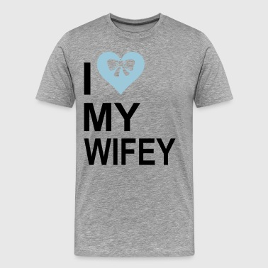 I  Love My wifey - Men's Premium T-Shirt