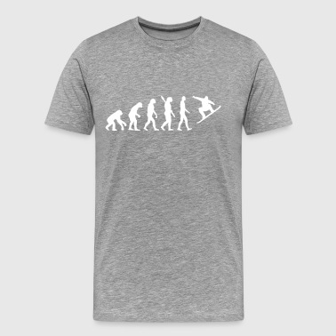 Evolution Snowboard - Men's Premium T-Shirt