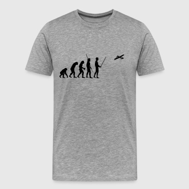 Evolution model airplane - Men's Premium T-Shirt