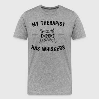 My therapist has whiskers - Men's Premium T-Shirt