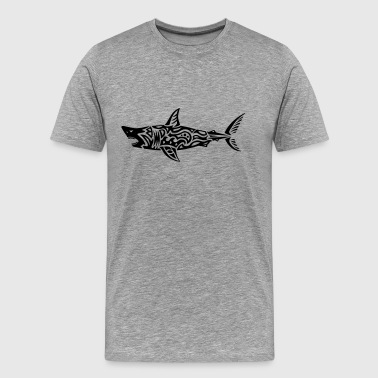 tribal white shark - Men's Premium T-Shirt