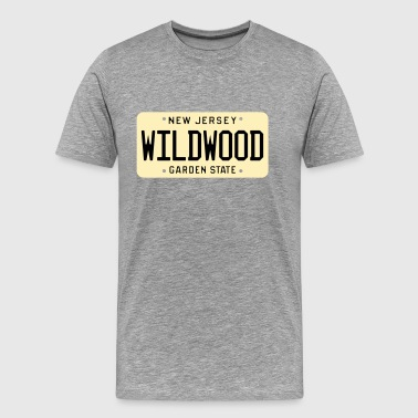 Wildwood New Jersey License Plate - Men's Premium T-Shirt