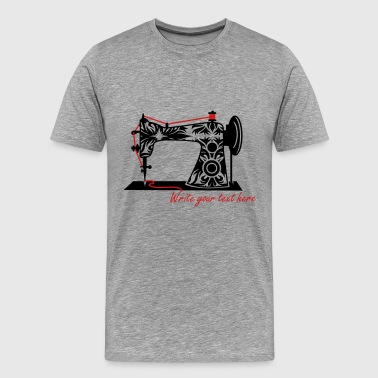 An antique sewing machine - Men's Premium T-Shirt