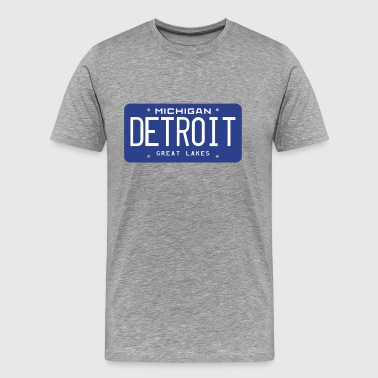 DETROIT License Plate - Men's Premium T-Shirt