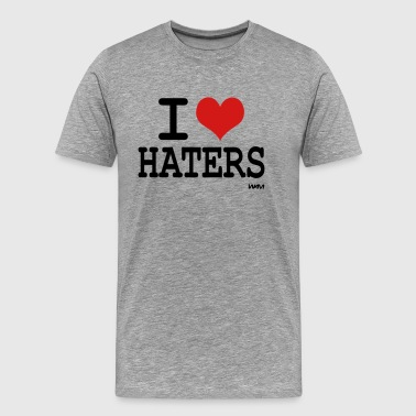 i love haters by wam - Men's Premium T-Shirt