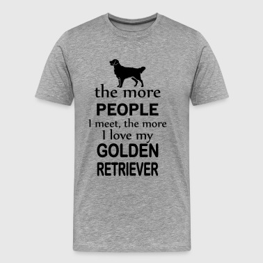 The More People I Meet The More I Love My Labrado - Men's Premium T-Shirt