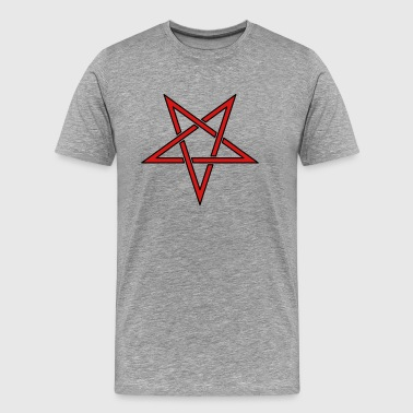 Inverted Pentagram Symbol (Vector) - Men's Premium T-Shirt
