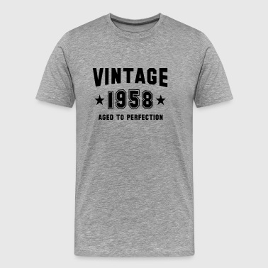 VINTAGE 1958 - Aged To Perfection - Birthday - Men's Premium T-Shirt