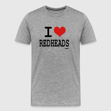 i love redheads by wam - Men's Premium T-Shirt