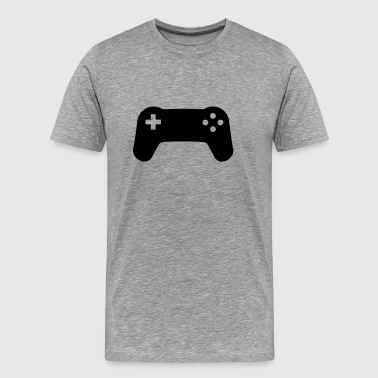 Controller console gamer player - Men's Premium T-Shirt