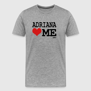 adriana loves me by wam - Men's Premium T-Shirt