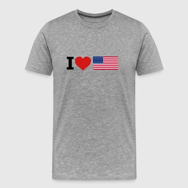 America, united states flag - Men's Premium T-Shirt