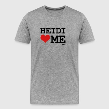 heidi loves me by wam - Men's Premium T-Shirt