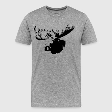 moose - elk - canada - hunting - hunter - Men's Premium T-Shirt