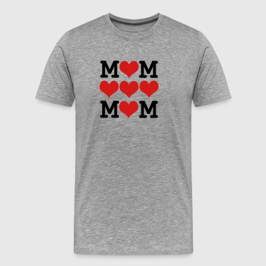 loved mom - mother's day - Men's Premium T-Shirt