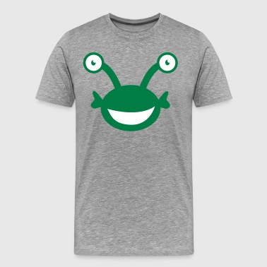 kids alien with googly eyes - Men's Premium T-Shirt
