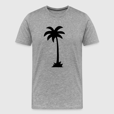 Tropical Beach Palm tree  - Men's Premium T-Shirt
